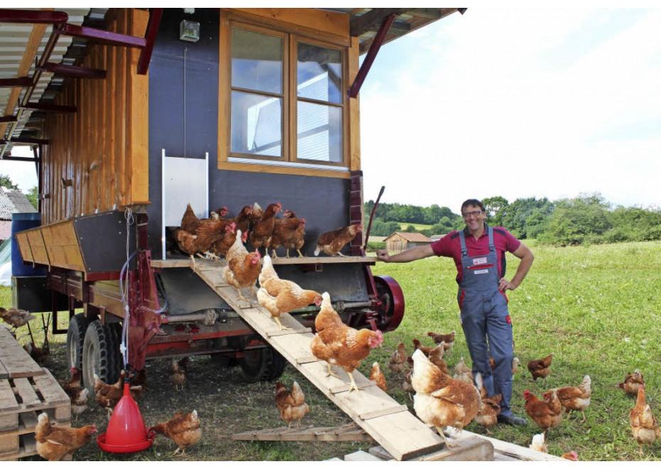 Mobilný kurín pre sliepky